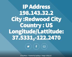 Find website visitors ip address