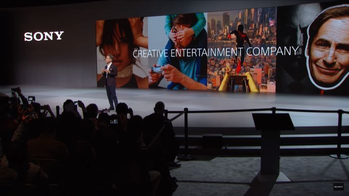 Kenichiro Yoshida, President and CEO of SONY, Addresses the audience at CES 2020